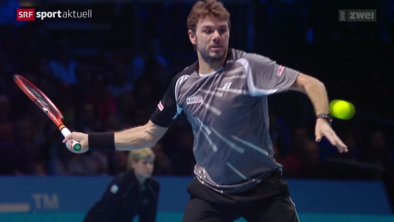 Tennis: ATP Finals, Wawrinka - Cilic