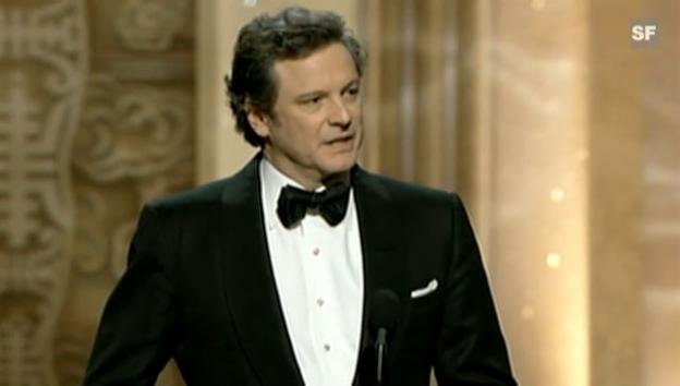 Video «Dankesrede Colin Firth (englisch)» abspielen