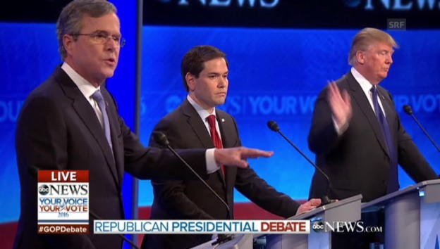 Video «Bush gegen Trump (englisch)» abspielen