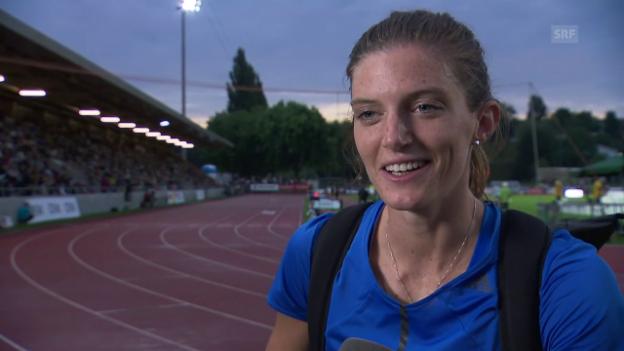 Video «Lea Sprunger: «Alles ist auf 400 m Hürden ausgerichtet»» abspielen