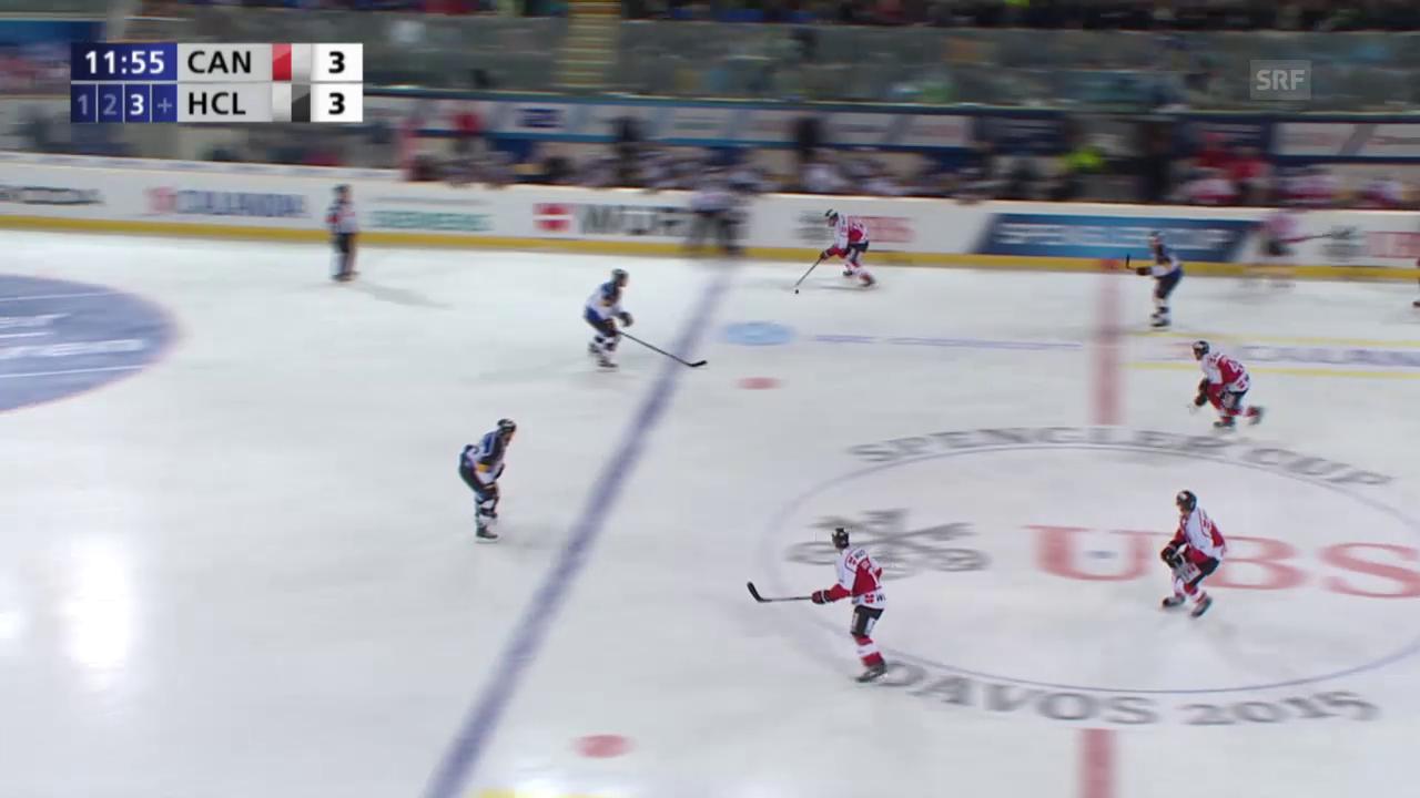 Eishockey: Spengler Cup, Team Canada - Lugano, 4:3 durch D'Agostini