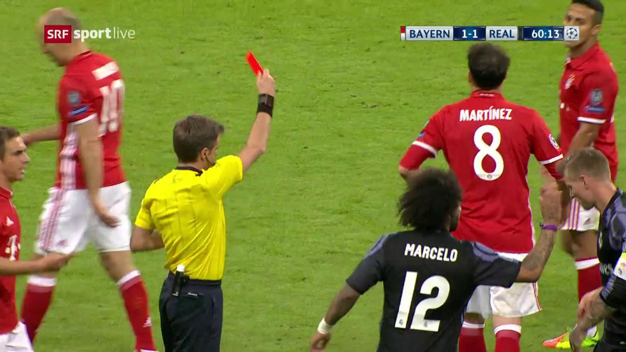 Martinez fliegt mit Gelb-Rot vom Platz