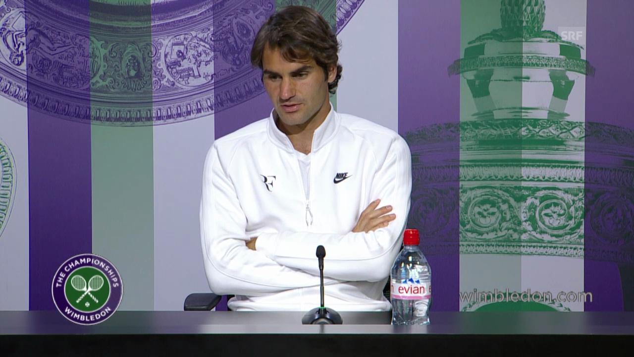 Tennis: Medienkonferenz mit Roger Federer