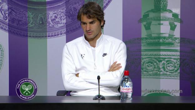 Video «Tennis: Medienkonferenz mit Roger Federer» abspielen