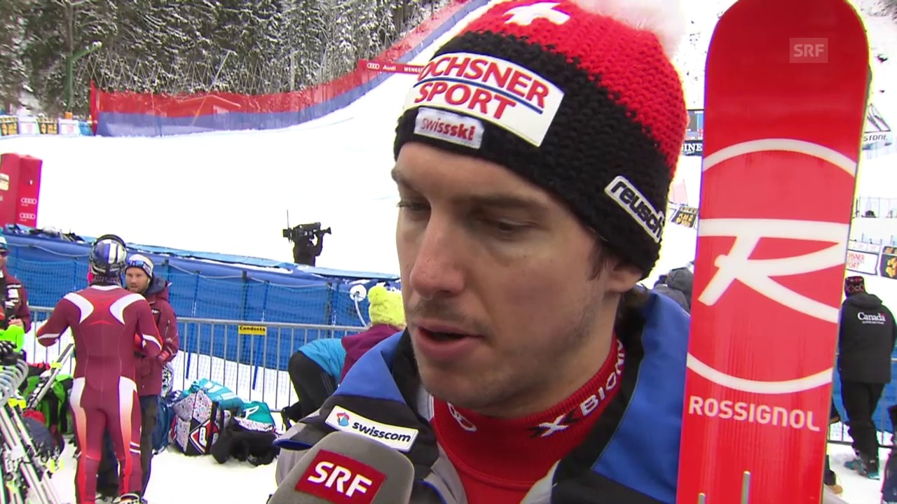 Carlo Janka äussert sich zum 1. Training am Lauberhorn