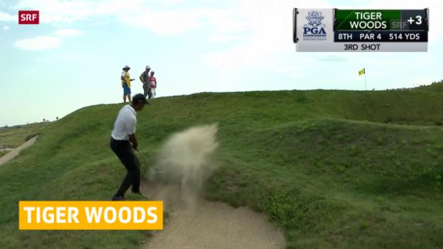 Video «Woods schwach - Jones überraschend vorne» abspielen