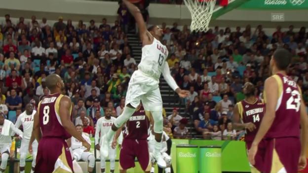 Video «US-Basketballer dominieren weiter» abspielen