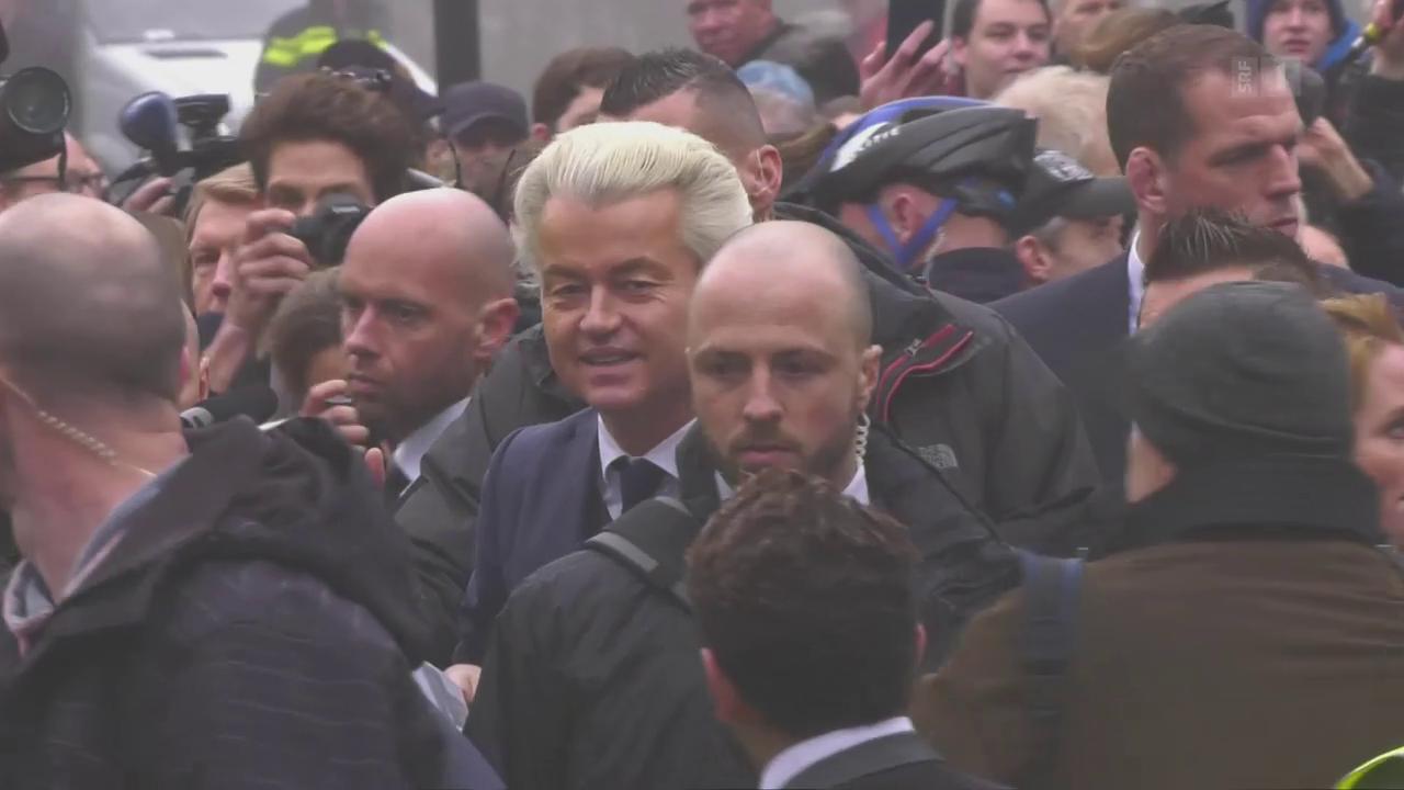 Geert Wilders in der Öffentlichkeit