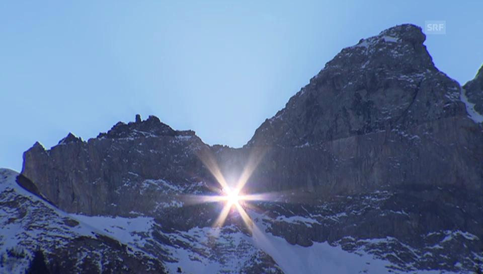 Sonnenspektakel am Martinsloch