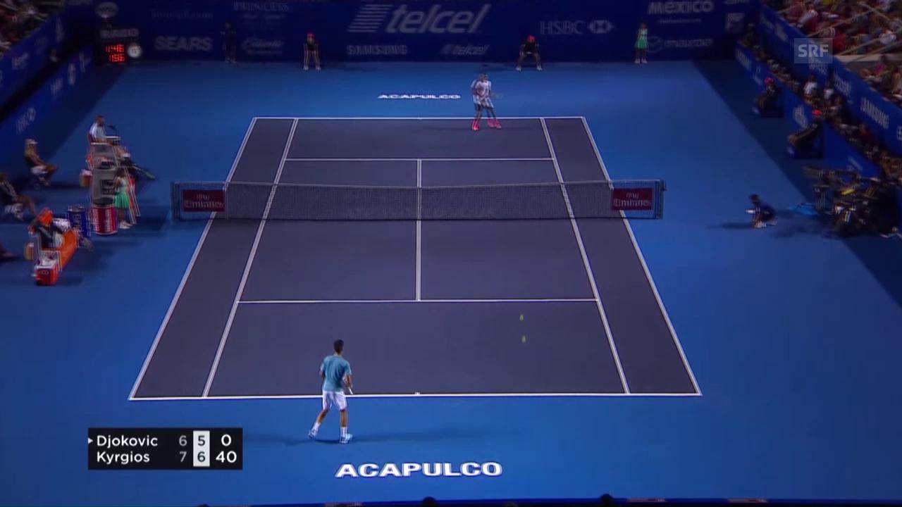 Kyrgios gelingt die Premiere auch gegen Djokovic (Quelle: SNTV)