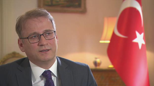 Video «Türkischer Botschafter zu den Spionage-Vorwürfen» abspielen