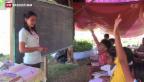 Video «Provisorische Schulen auf den Philippinen» abspielen