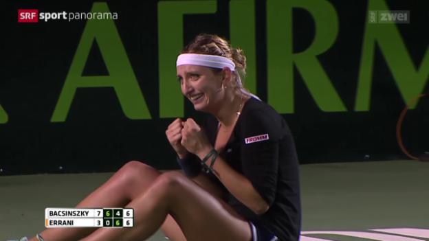 Video «Tennis: Bacsinszky im Final von Monterrey» abspielen