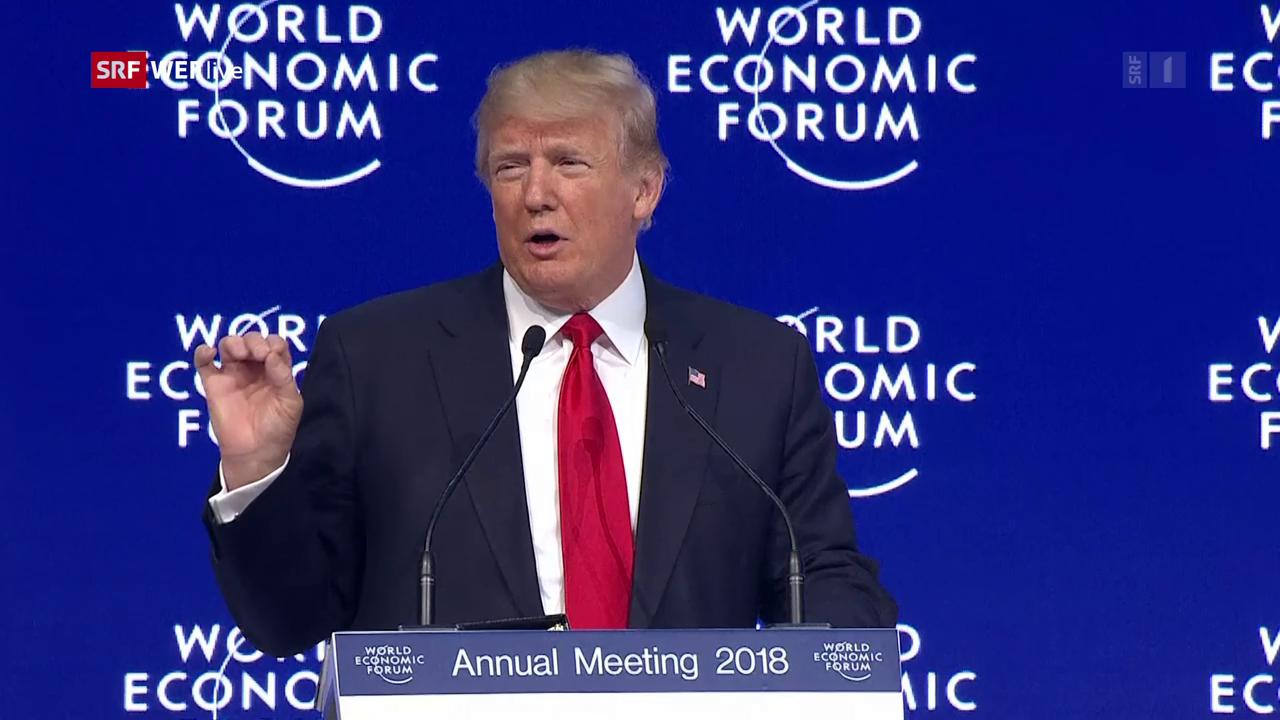 Rede von Donald Trump am WEF 2018