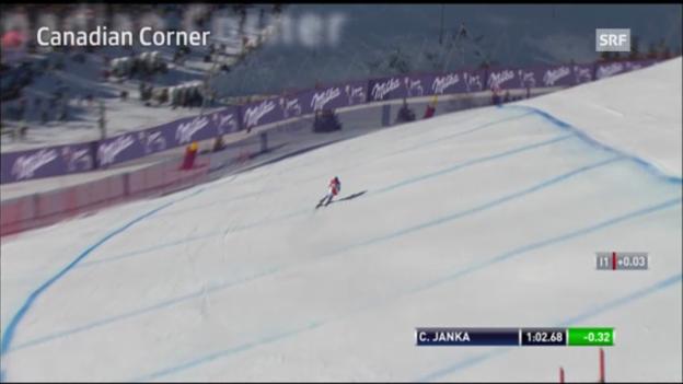 Video «Ski: Lauberhornabfahrt, «Canadian Corner»» abspielen