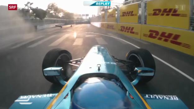 Video «Motorsport: Premiere der Formula E in Peking» abspielen