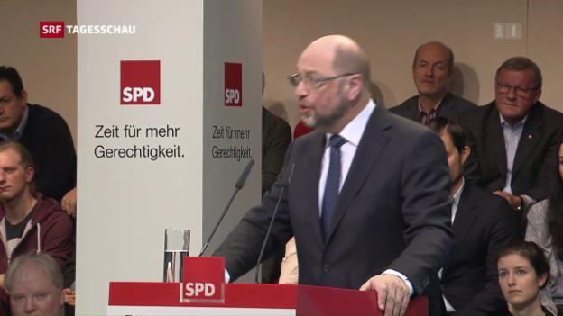Video «Schulz ist Bundeskanzklerkandidat» abspielen