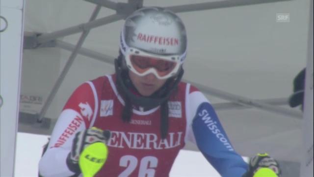Ski: Superkombination Méribel, Slalom von Marianne Kaufmann-Abderhalden