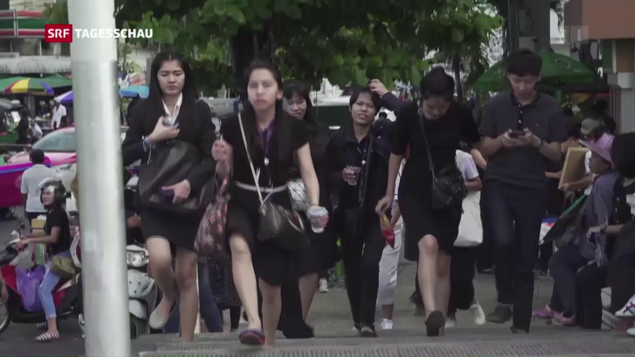 Thailands grosse Trauer über den Tod des Königs
