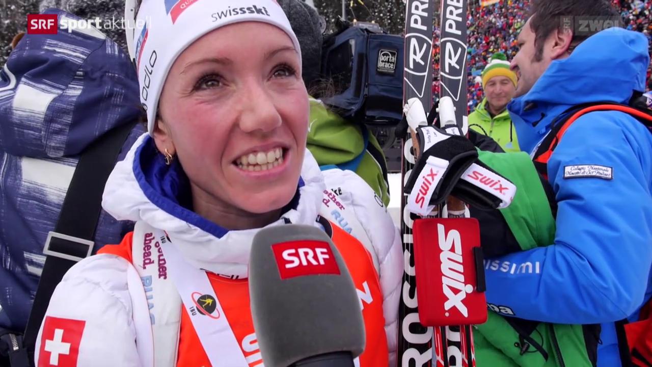 Aufholjagd: Selina Gasparin wird in Antholz Zweite