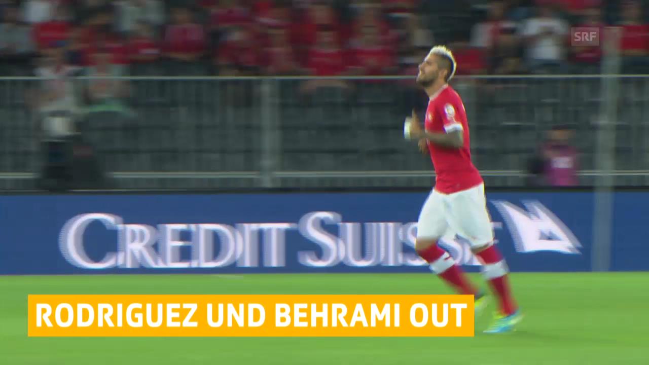 Fussball: Behrami und Rodriguez verletzt («sportlive»)
