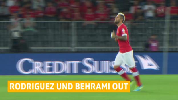 Video «Fussball: Behrami und Rodriguez verletzt («sportlive»)» abspielen