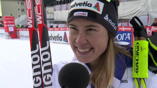 Video «Ski nordisch: Langlauf-Weltcup in Davos, Sprint, Interview Laurien van der Graaff» abspielen