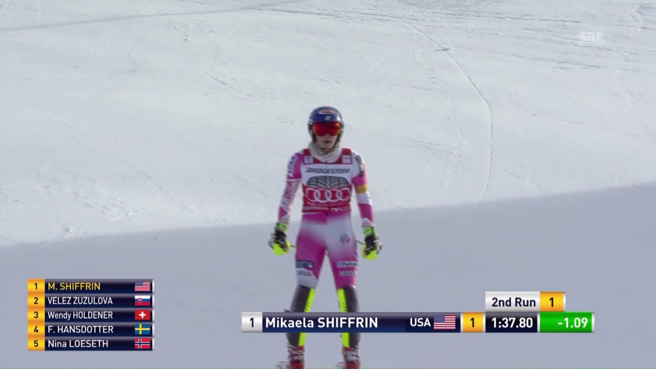 Shiffrins Fahrt zum 11. Slalomsieg in Serie