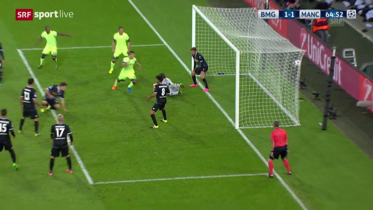 Fussball: Champions League, Gladbach – Manchester City, 1:1 durch Otamendi