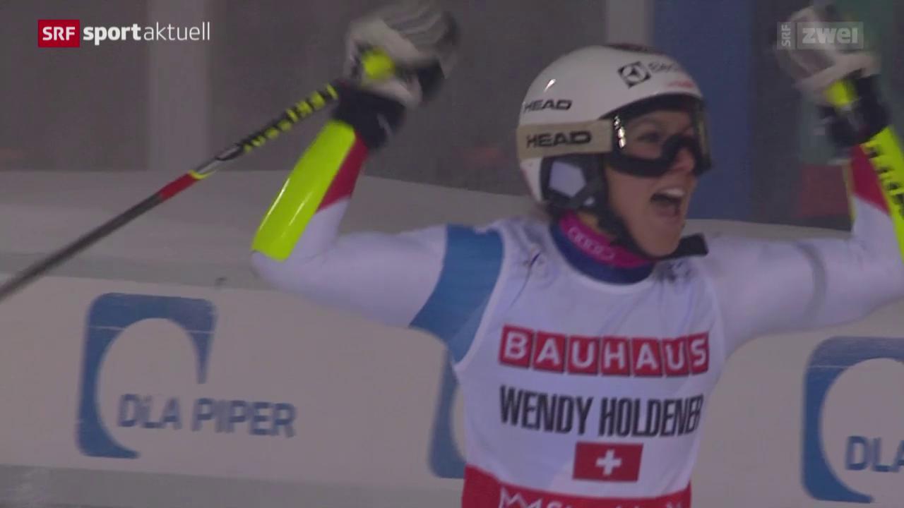 Parallel-Spezialistin Holdener feiert 1. Weltcupsieg