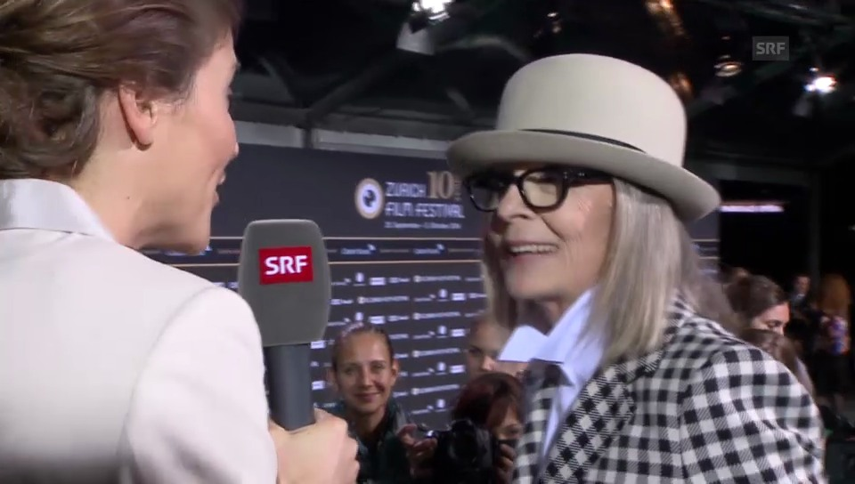 Diane Keaton über Zürich