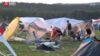 Video «Openair Frauenfeld: Der Abfallberg einer Wegwerfgesellschaft» abspielen