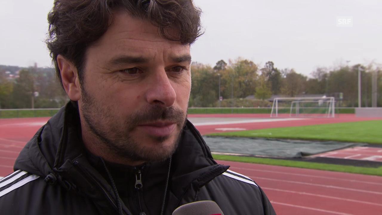 Fussball: Wohlen-Trainer Ciriaco Sforza vor dem Spiel gegen Basel