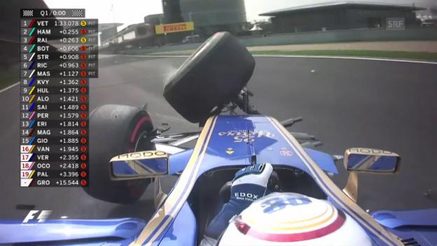 Video «Der Crash von Sauber-Pilot Giovinazzi» abspielen