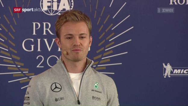 Video «Rosberg erklärt überraschend seinen Rücktritt» abspielen