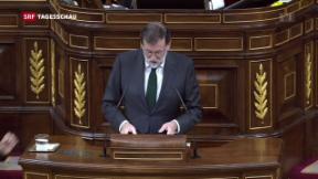 Video «Spaniens Ministerpräsident abgesetzt» abspielen