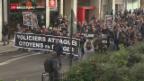 Video «Müde Pariser Polizisten» abspielen