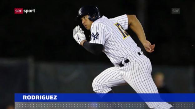 Video «Baseball: Rodriguez 211 Spiele gesperrt («sportaktuell»)» abspielen