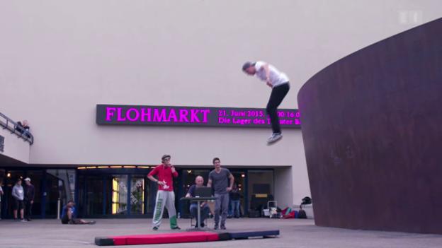 Video «Parkour: Belastungsprobe für die Gelenke» abspielen