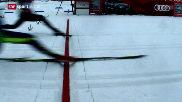 Video «Dario Cologna in Oberstdorf hauchdünn geschlagen» abspielen