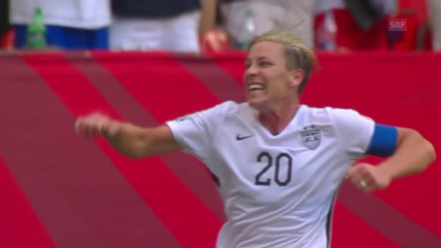 Video «Fussball: Frauen WM in Kanada, Gruppe D, USA - Nigeria, das Tor von Abby Wambach» abspielen