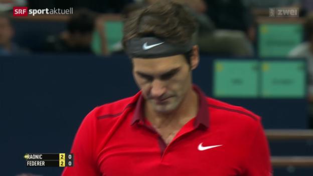 Video «Tennis: ATP Paris-Bercy, Federer - Raonic» abspielen