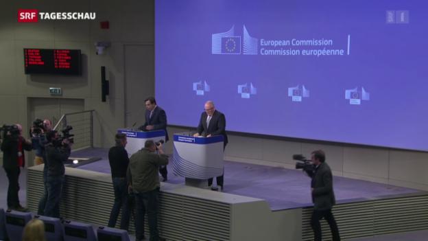 Video «EU überprüft Rechtsstaatlichkeit Polens» abspielen