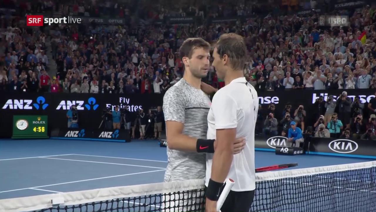 Die Live-Highlights bei Nadal - Dimitrov