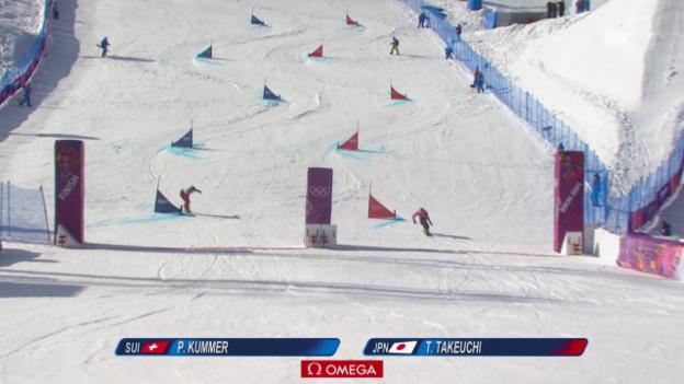 Video «Snowboard: Parallel-RS, Final, 1. Lauf von Patrizia Kummer (sotschi direkt, 19.2.14)» abspielen