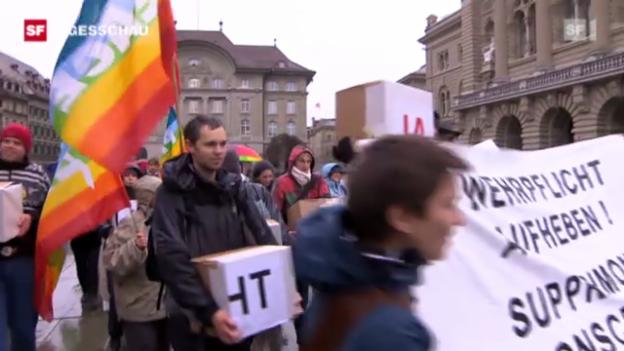 Video «Gsoa reicht Initiative ein» abspielen