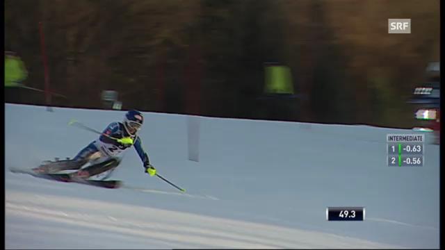 Slalom Zagreb: 1. Lauf Shiffrin