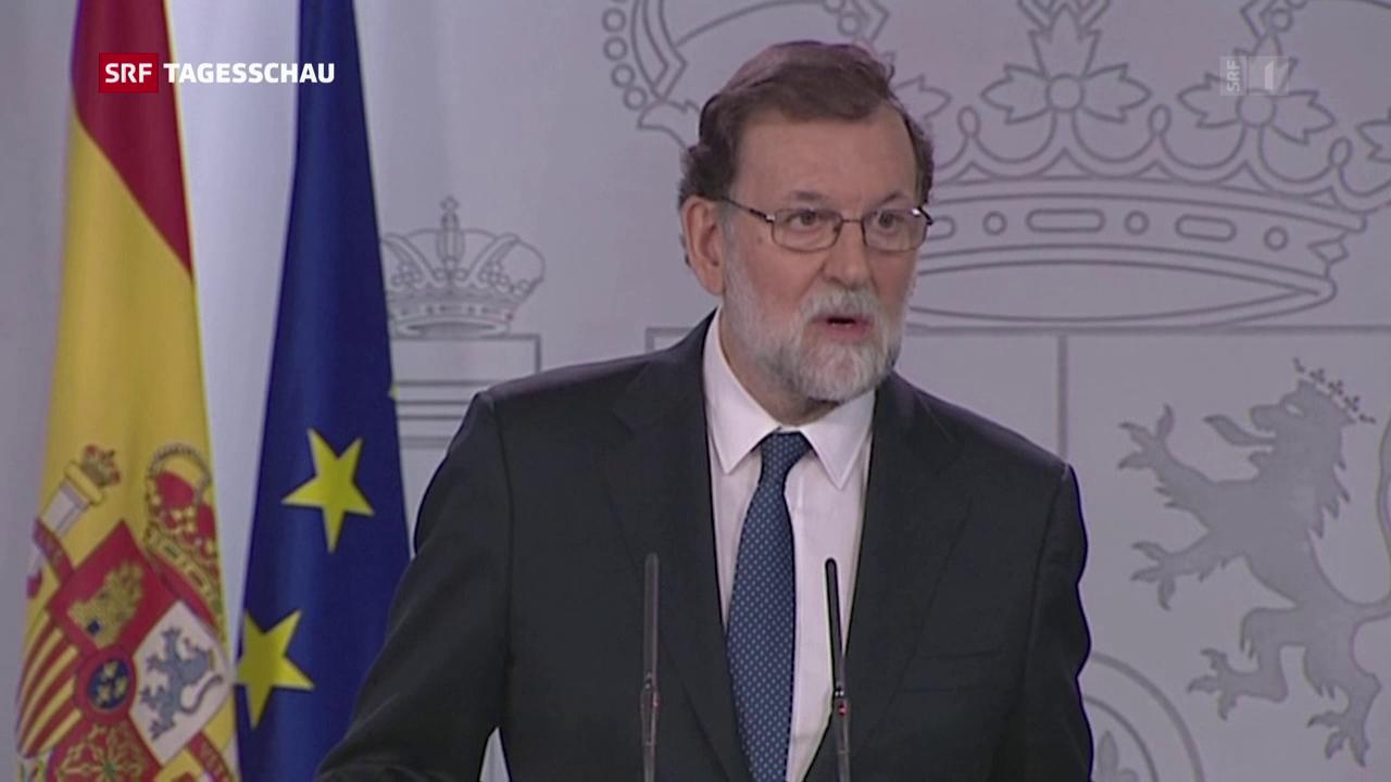 Streit um unabh ngigkeit spanien leitet entmachtung der separatisten in katalonien ein news - Ka international madrid ...