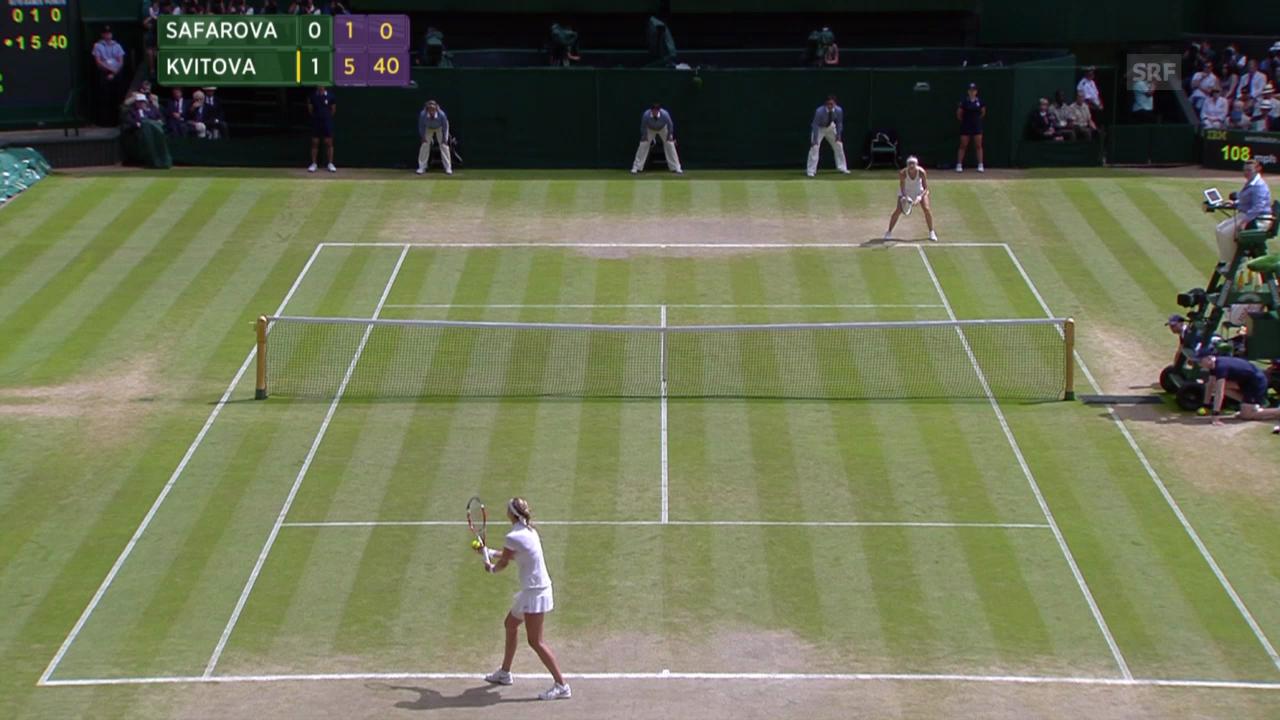 Kvitova - Safarova: Der Matchball