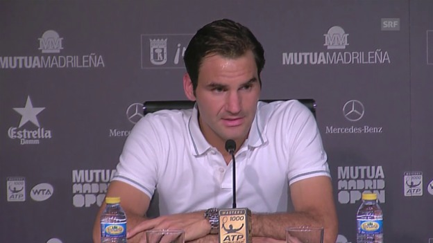 Video «Tennis: ATP Madrid, Federer-Kyrgios» abspielen